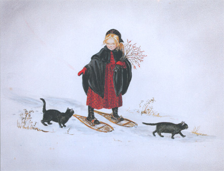 """Laura in the Snow"" by Tasha Tudor"