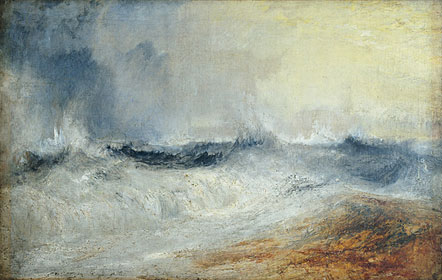 Waves Breaking Against The Wind - J.M.W. Turner