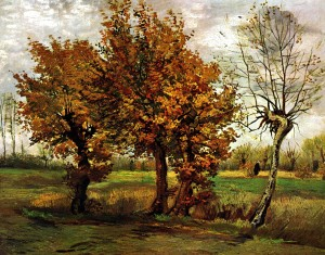 Autumn Landscape With Four Trees - Vincent van Gogh