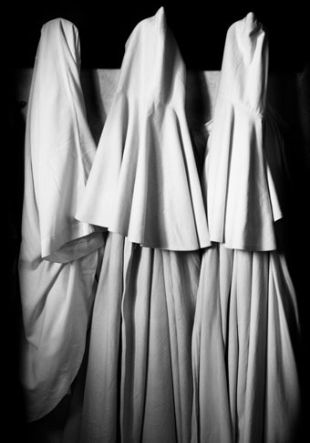 Monks Robes, Abbey of Sant' Antimo by Ron Rosenstock