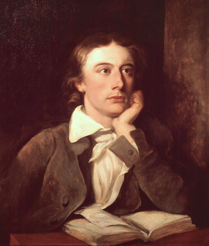 John Keats portrait by William Hilton