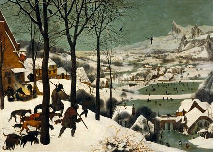 """Hunters in the Snow"" by Pieter Brueghel the Elder."