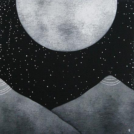 Mountain Over the Moon © by Natasha Newton